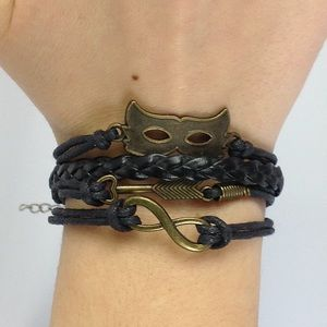 Jewelry - Wrap Bracelet w/ Mask, Arrow, & Infinity Charms